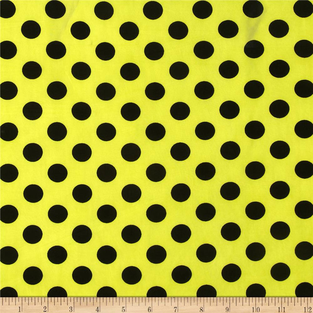 Yellow Blouse With White Polka Dots 118