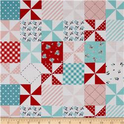 Riley Blake Country Girls Country Patchwork Aqua