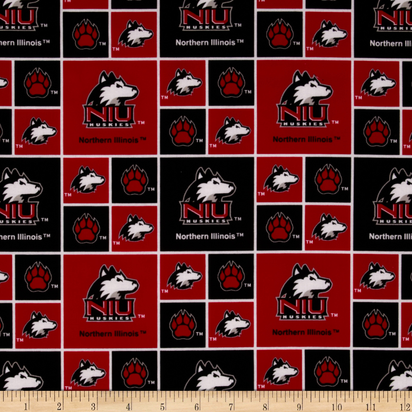 Collegiate Cotton Broadcloth Northern Illinois University Fabric