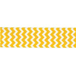 "Riley Blake 7/8"" Grosgrain Ribbon Chevron Yellow"
