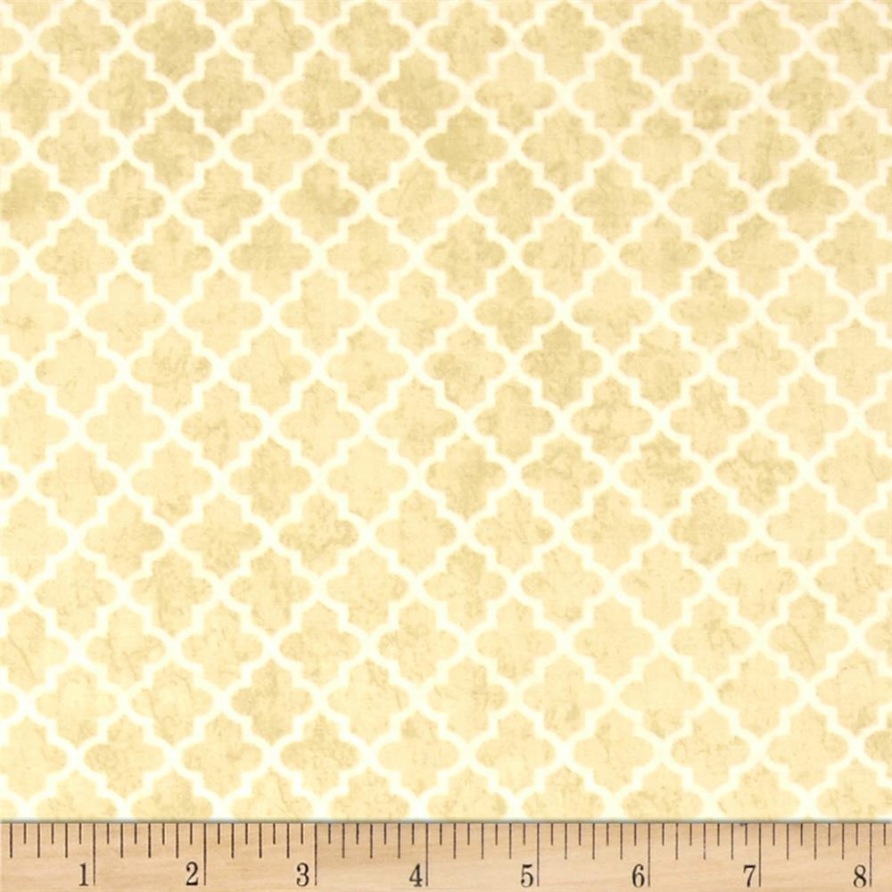 Thankful Harvest Quatrefoil Tan