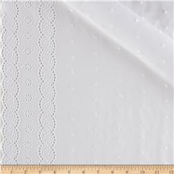 Imperial Eyelet Flounce 4'' Twist Border White