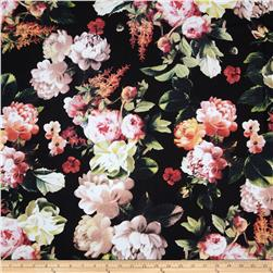 Bianca Viscose Challis Floral Black/Orange