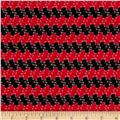 Stretch Jacquard Knit Stripe Red/Black