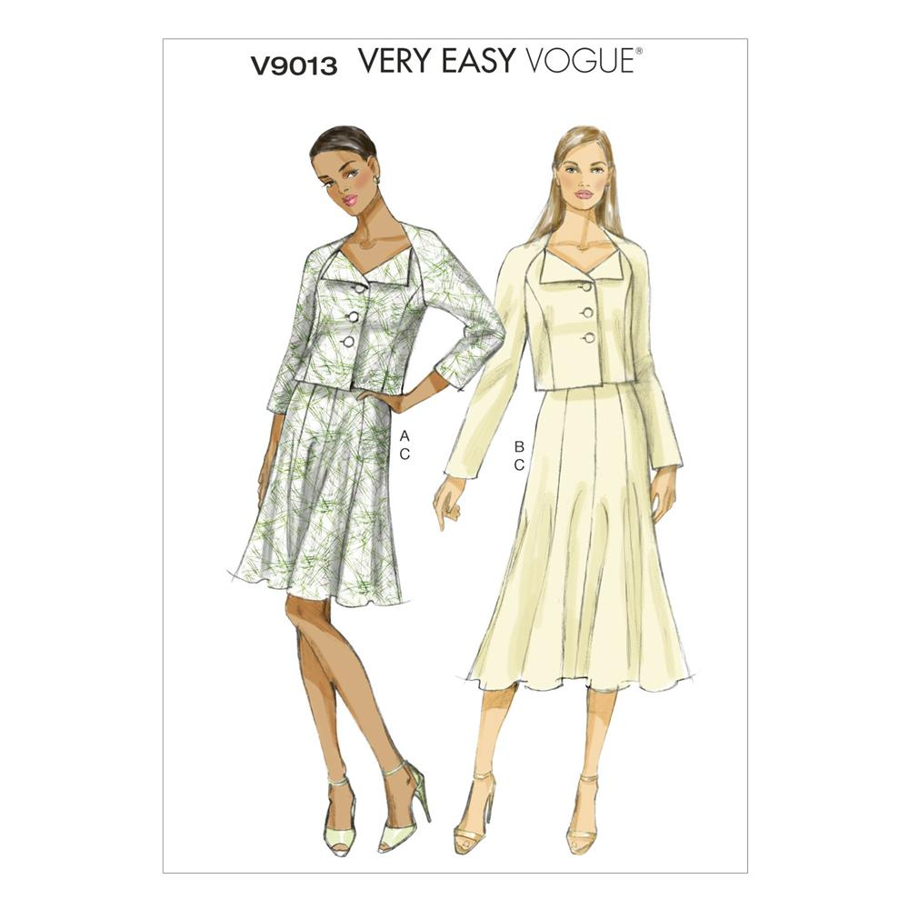Vogue Misses'/Misses' Petite Jacket and Skirt Pattern V9013