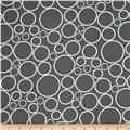"108""  Wide Spot On Wide Quilt Backing Circles Steel"