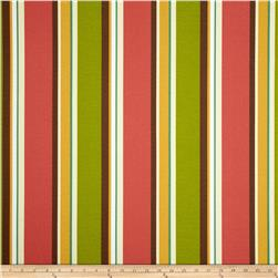 Maco Indoor/Outdoor Twickle Stripe Scarlet Fabric