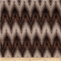 Stretch ITY Knit Abstract Chevron Multi