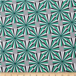 Laguna Stretch Cotton Jersey Starburst Emerald