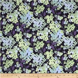 Amethyst Large Floral Black