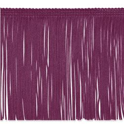 "6"" Chainette Fringe Trim Berry"