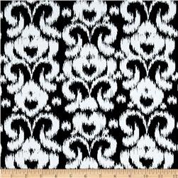 Riley Blake Ikat Jersey Knit Black
