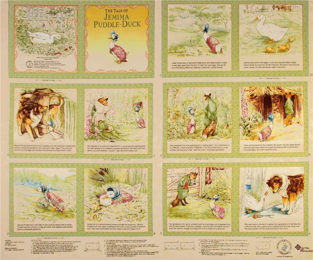 Jemima Puddle Duck Soft Book Panel Multi
