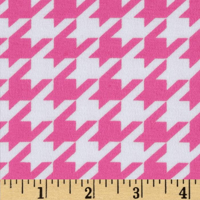 Image result for pink houndstooth fabric