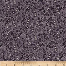 Penny Rose Mourning Gray and Purple Paisley Purple