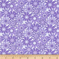 Moda Hi De Ho Packed Flowers Purple