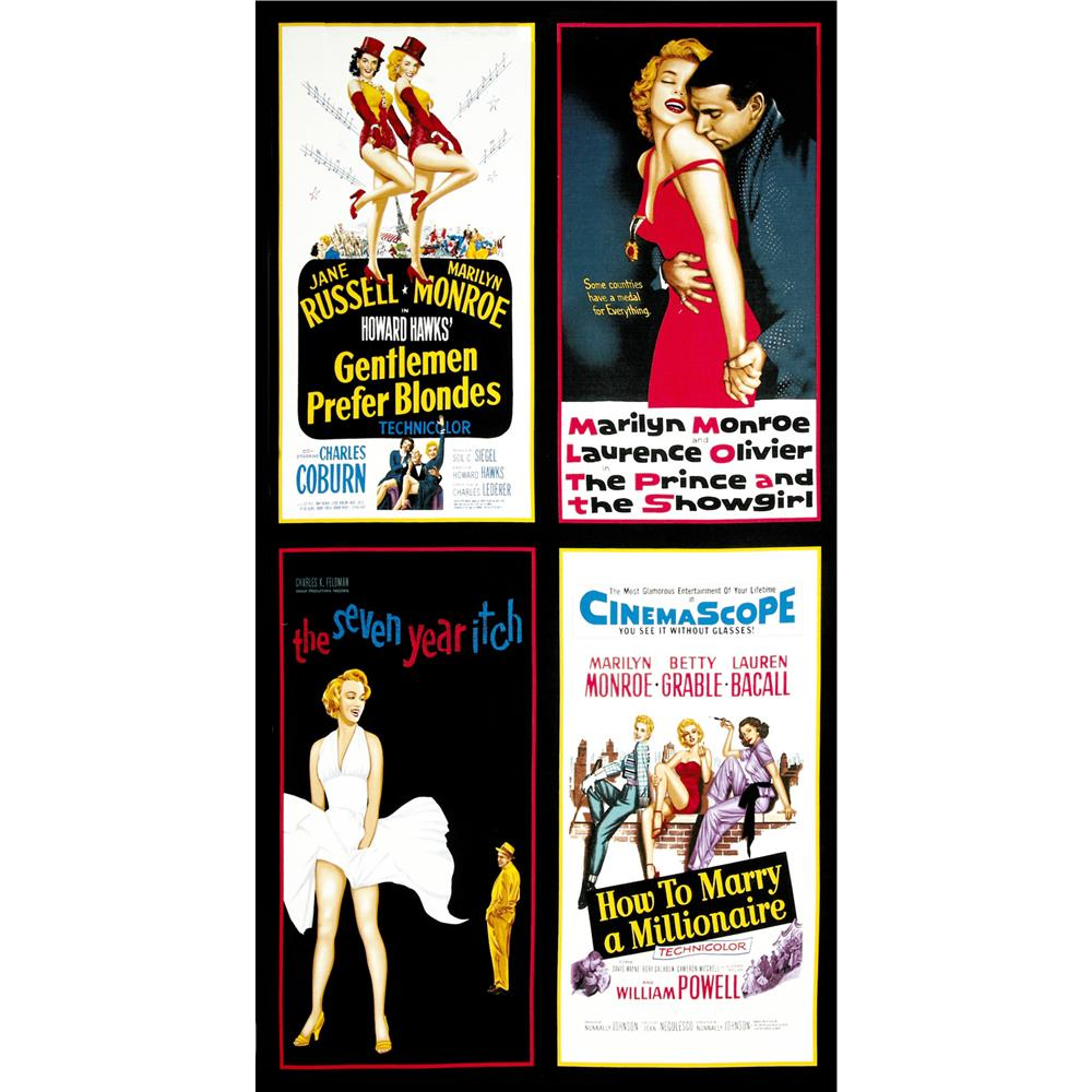 Hollywood Icons Panel Marilyn Monroe Movie Poster Multi
