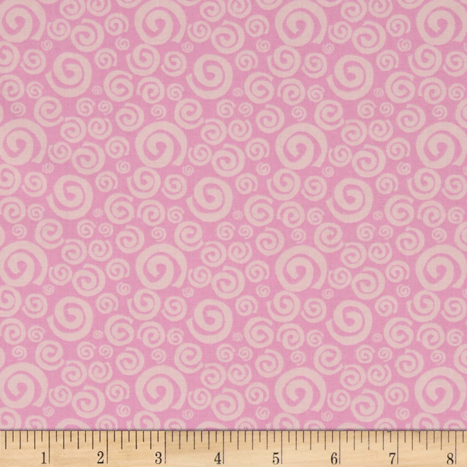 Dream A Little Dream Swirls Pink Fabric