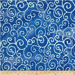 Indian Batik Scroll Blue Lapis