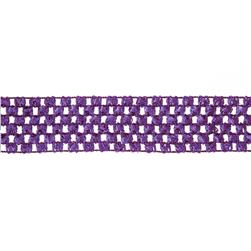 "1 3/4"" Crochet Headband Trim Purple"