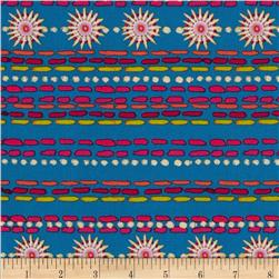 Merry Go Round Smocking Stripe Blue