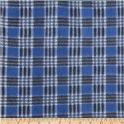 Printed Fleece Checkered Plaid Royal Blue/Black