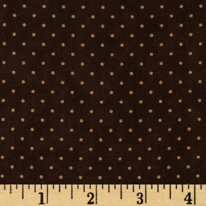 Moda Essential Dots (# 8654-45) Chocolate