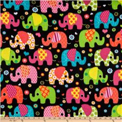 Winter Fleece Elephants Multi
