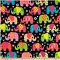 WinterFleece Elephants Black