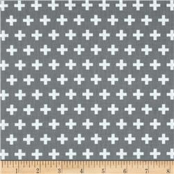 Remix Crosses Grey Fabric