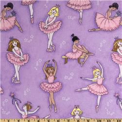Make Believe Glitter Tossed Ballerinas Purple
