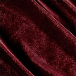 Stretch Velvet Knit Dark Wine
