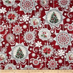 Holiday Shimmer Metallic Ornaments Red/Silver