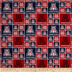 Collegiate Cotton Broadcloth University of Arizona Blue Fabric