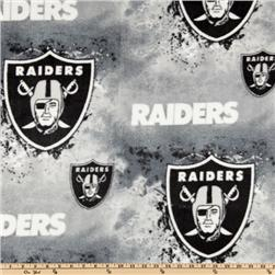 NFL Fleece Oakland Raiders Black/White/Grey Fabric