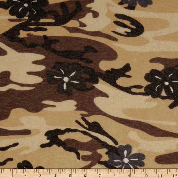 Onion Skin Knit Camo Floral Natural