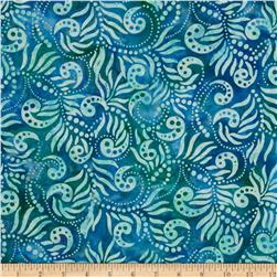 Moda Color Crush Batiks Paisley Ocean