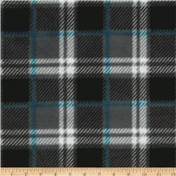 WinterFleece London Plaid Charcoal Fabric
