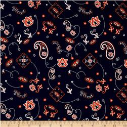 Collegiate Cotton Broadcloth Auburn University Navy