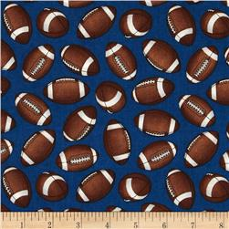 Whole 9 Yards Football Tossed Footballs Blue