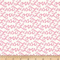 Moda Ever After Love Letters Ivory/Pink
