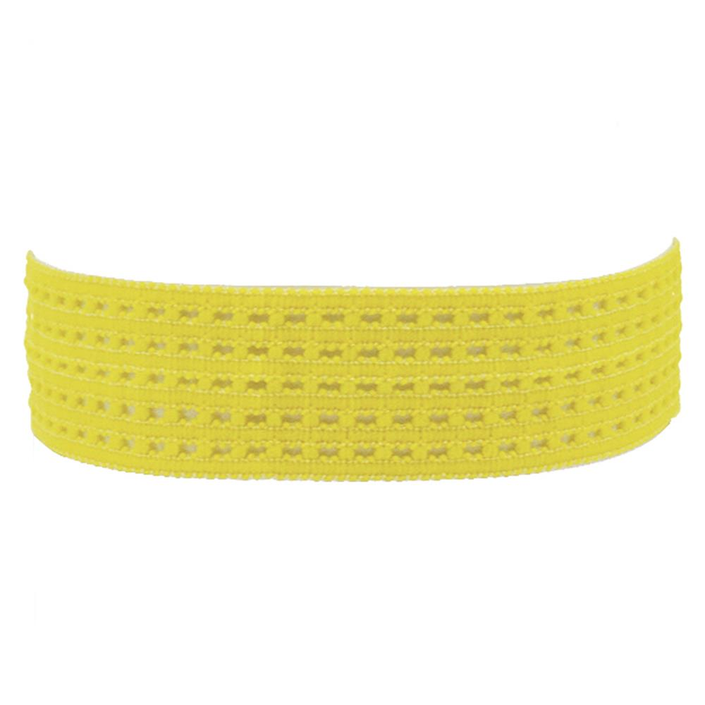 "1-3/8"" Stretch Perforated Headbands Yellow"