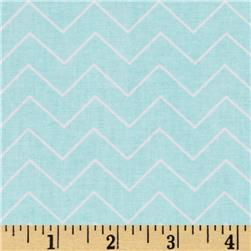 DIY Chevron Aqua