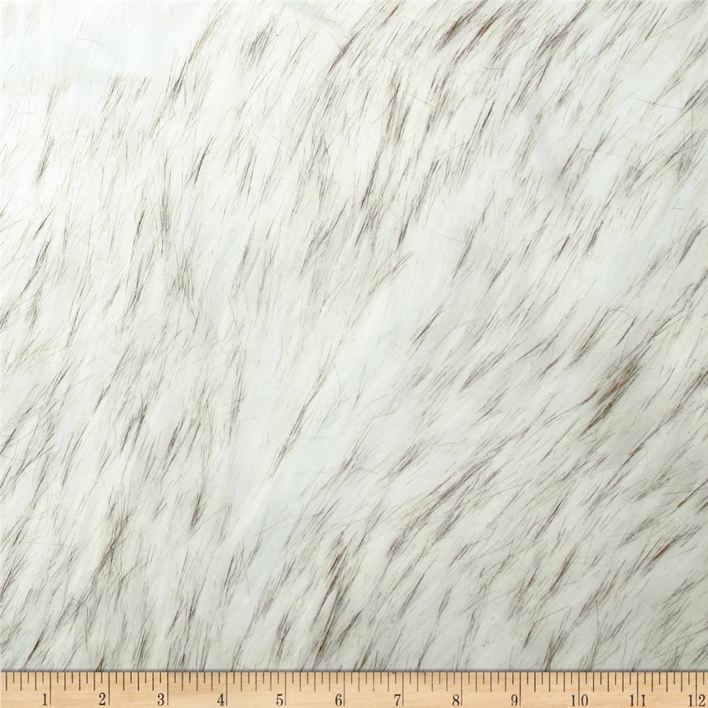 Faux Fur Norwegian Husky Fur Off-White/Black
