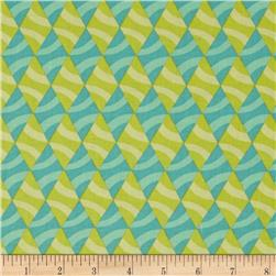 Savvy Swirls Diamond Stripe Teal