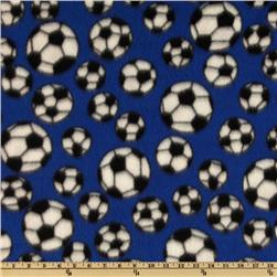 Sports Fleece Soccer Balls Royal Fabric