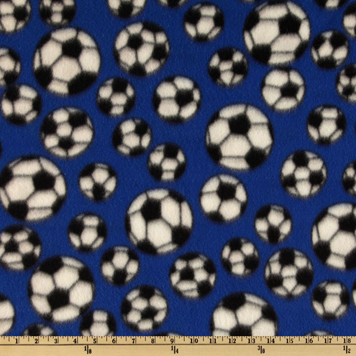 INOpets.com Anything for Pets Parents & Their Pets Sports Fleece Soccer Balls Royal Fabric