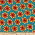 B-Bold Flannel Daisy Flower Blue