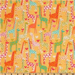 Michael Miller Giraffe Love Yellow
