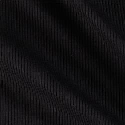 Wife Rib Knit Solid Black